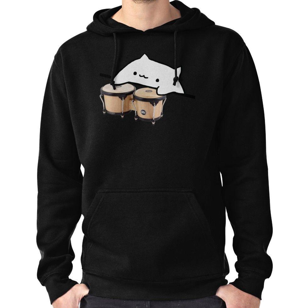 Bongo Cat Meme Hoodie Pullover Hoodies Meme Tshirts Shirts
