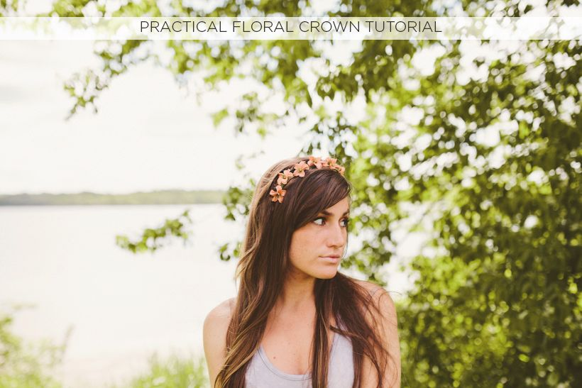 Practical Floral Crown Tutorial - Sincerely, Kinsey