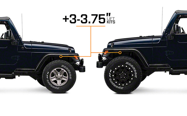 3 3 75 Lift Kits Jeep Tj Jeep Wrangler Lift Kits Custom Jeep