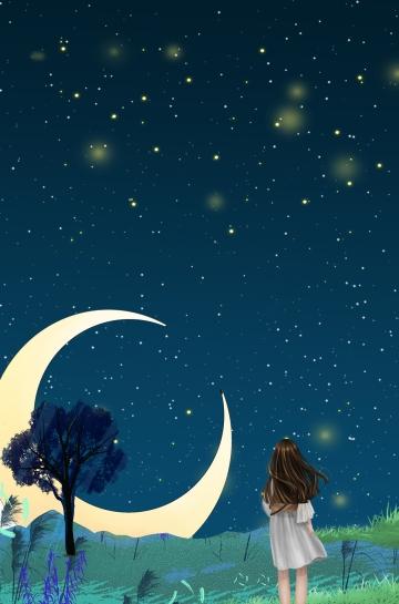 ليلة صيف مليئة بالنجوم سماء جميلة رسمت باليد أدبي الشفاء صورة توضيحية على Pngtree غير محفوظة الحقوق Ceus Noturnos Ilustracao Noite Noites De Verao