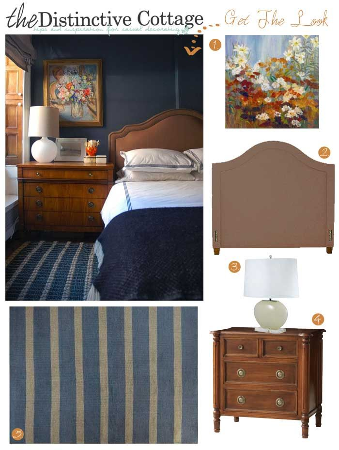 Unique Get The Look Sophisticated Cottage Bedroom cottagedecor navy cottagebedroom cottagefurniture New - Elegant Cottage Style Bedroom Furniture Photo