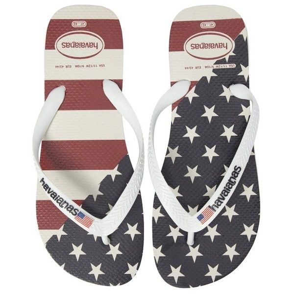 9fb94abda Men s Havaianas Top Mix Usa Flag Flip Flop ( 26) ❤ liked on Polyvore  featuring