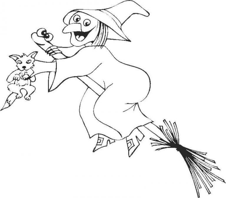 Free Printable Witch Coloring Pages For Kids Witch Coloring Pages Coloring Pages Halloween Coloring