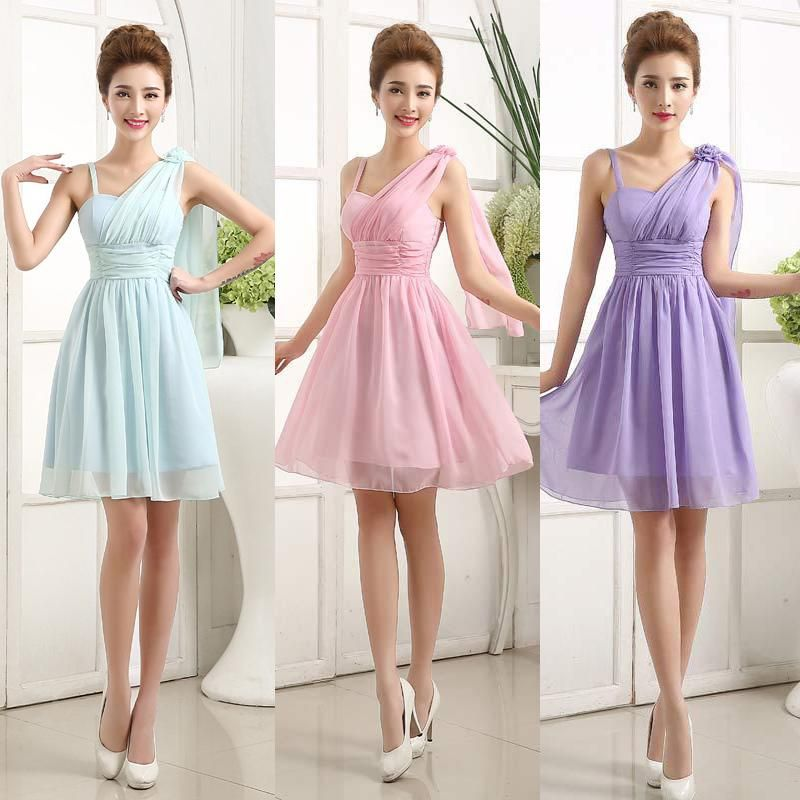 Spaghetti Straps Lace Satin Bridesmaid Dresses Skirt Train Lace ...