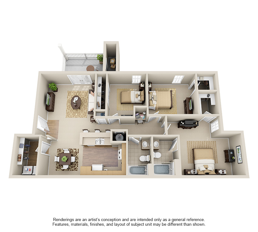 One Two And Three Bedroom Apartments In Chattanooga Tn Steadfast Apartment Rental Chattanooga Tennes Apartment Floor Plans Apartment Layout Sims House