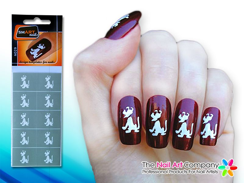 The Nail Art Company Smart Nails Puppy Nail Art Stencil Set N029