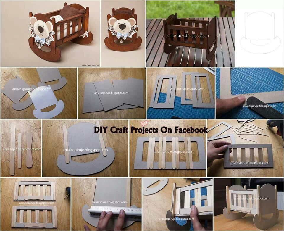 DIY Miniature Popsicles Baby Crib For Smaller 112 Scale Could Be Adaptedcks With