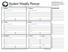 photograph relating to Printable Student Planner Download identify working day planner printable university student planners college student everyday