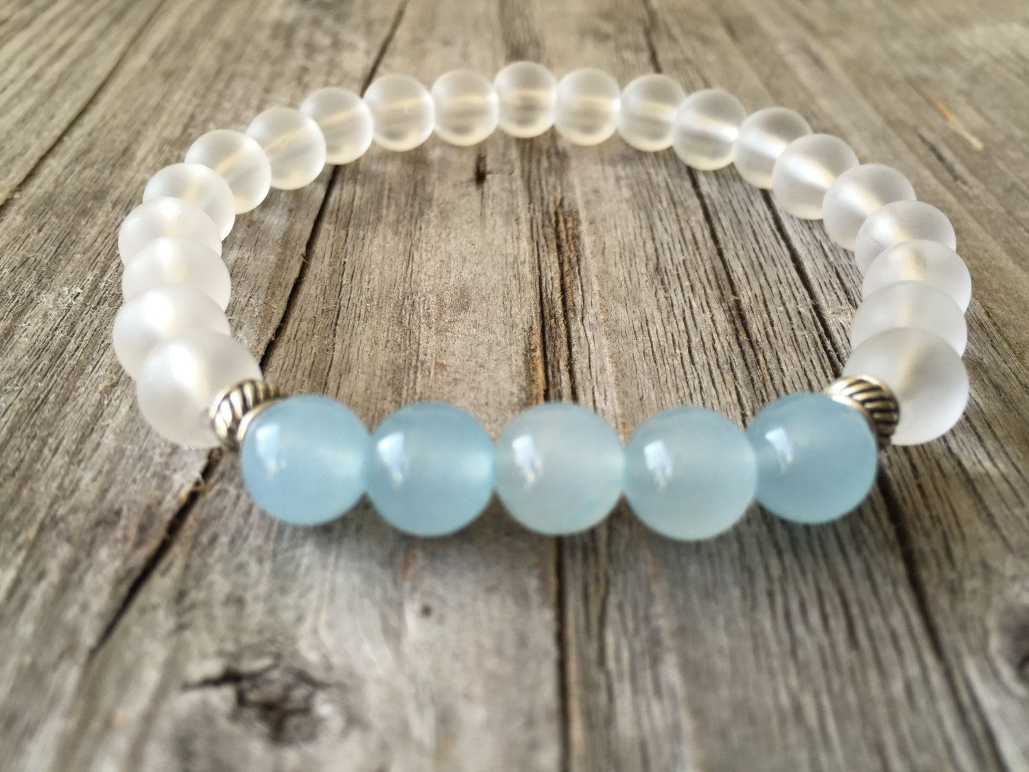 Summer Bracelet, Gemstone bracelet, Unisex bracelet, Woman bracelet, Men bracelet, Stretch stacking bracelet, Gemstone Jewelery, gemstone door KennlyDesign op Etsy