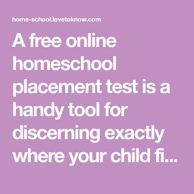 Free Online Homeschool Placement Tests | Homeshool | Free homeschool