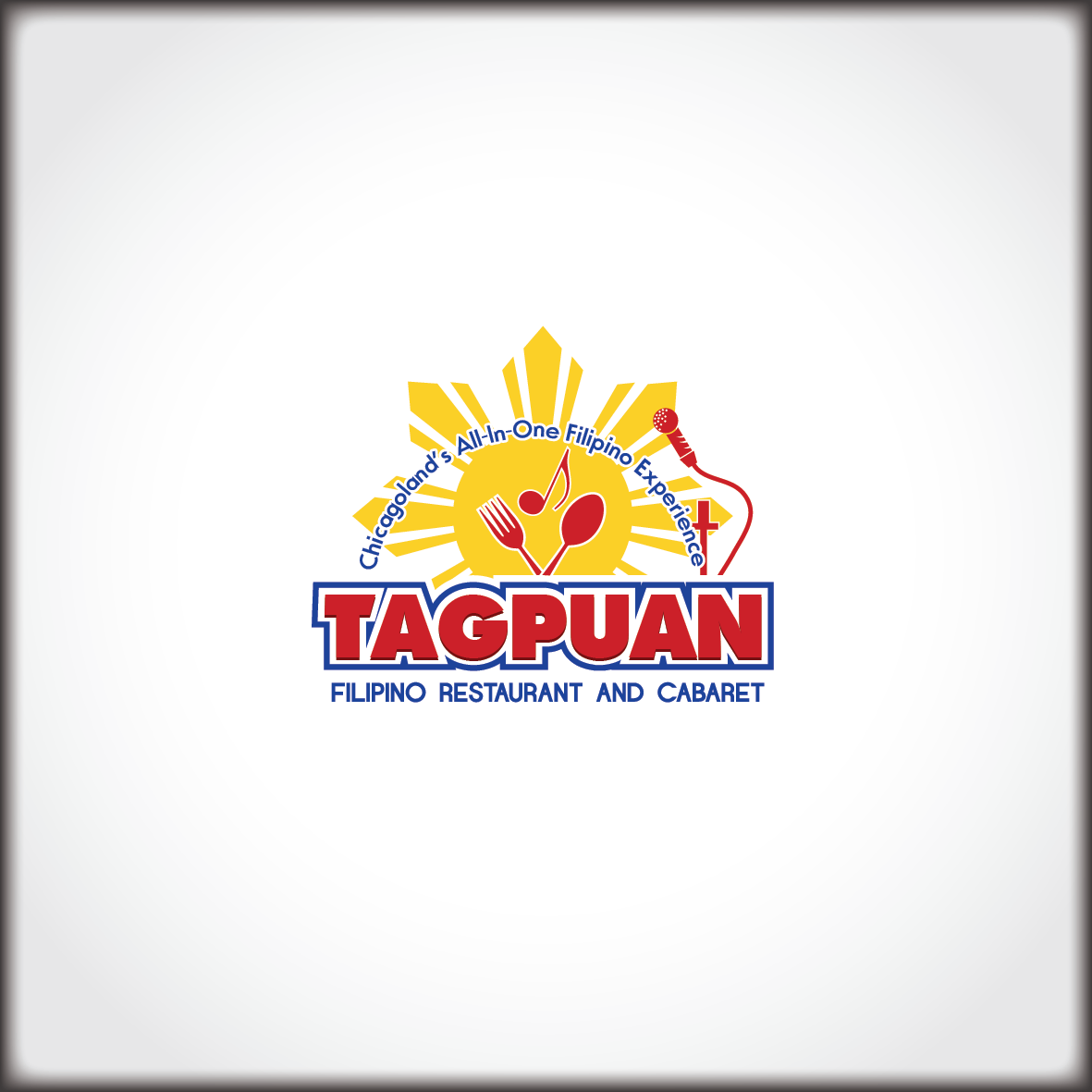 A Split Complimentary Color Scheme Logo For Filipino Restaurant And