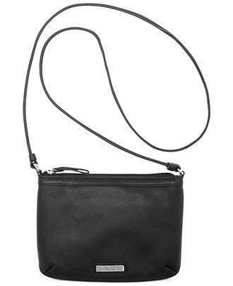 b62e0385a6b4 Calvin Klein Pebble Leather Crossbody - Calvin Klein - Handbags    Accessories - Macy s