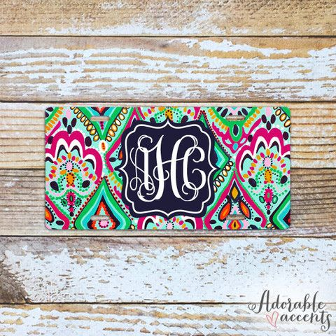Monogrammed Lilly Pulitzer Inspired License Plate
