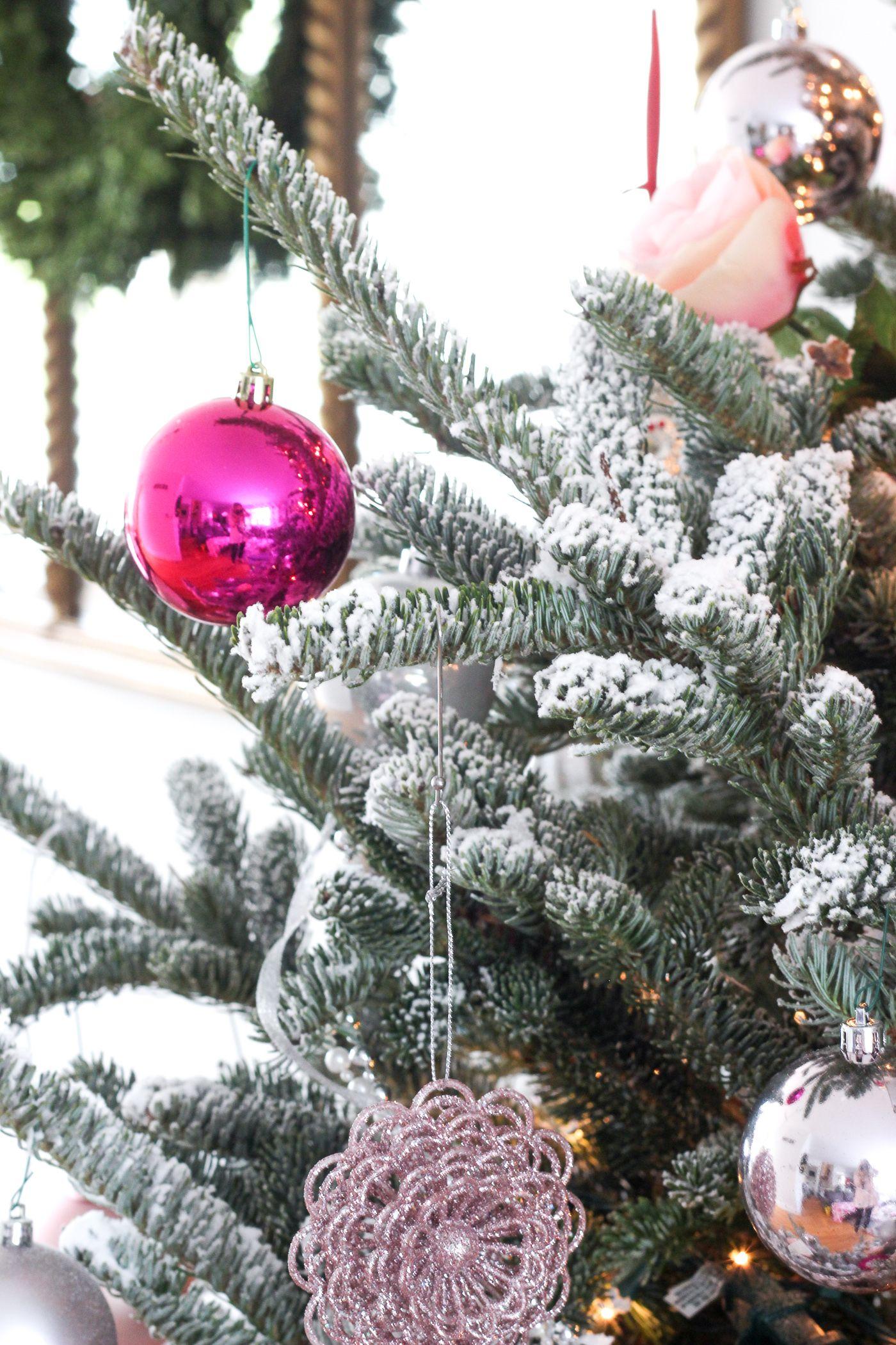 DIY Flocked Tree Shining on Design Flocked trees