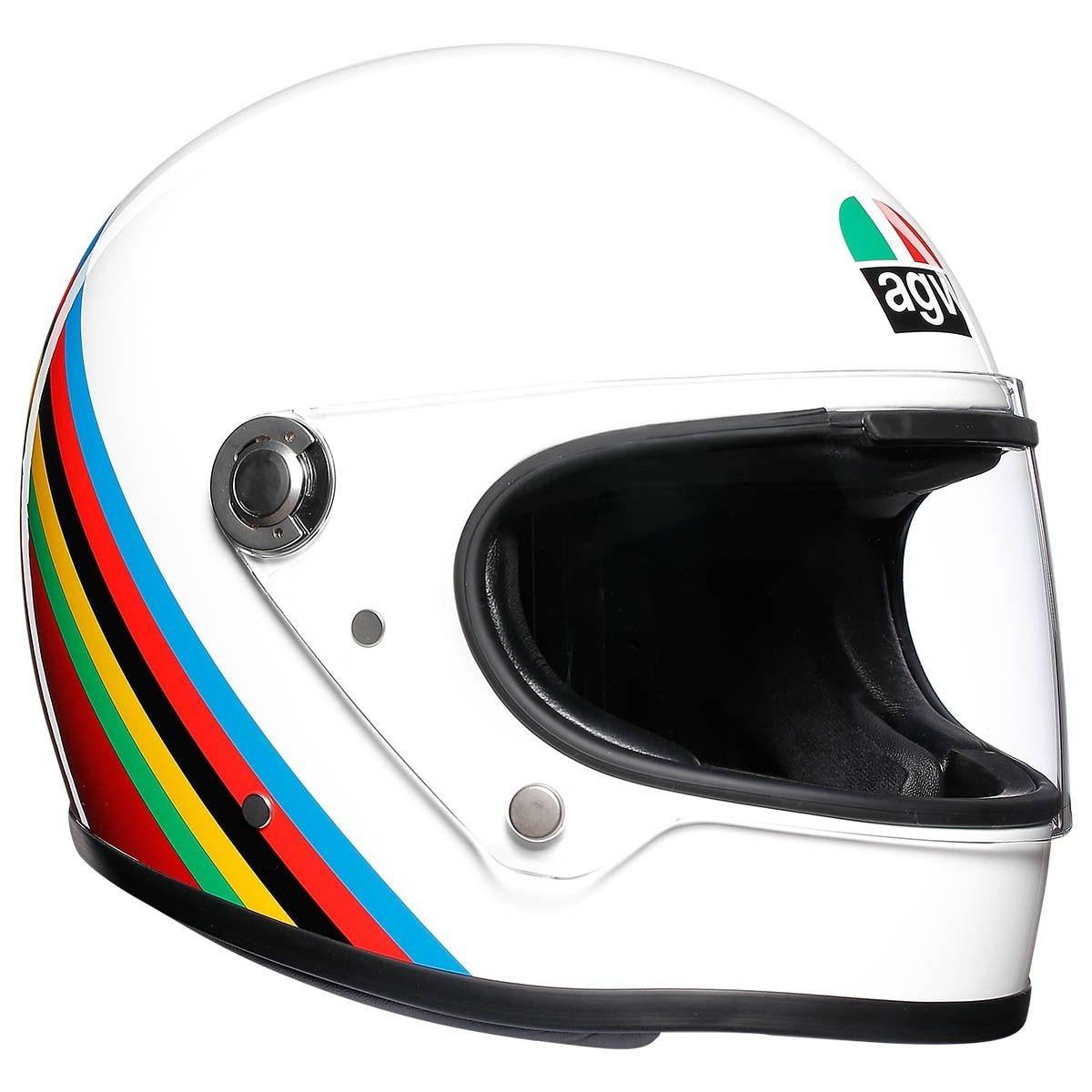 New Gear: AGV X3000 Red/White Retro Helmet - Bike Review