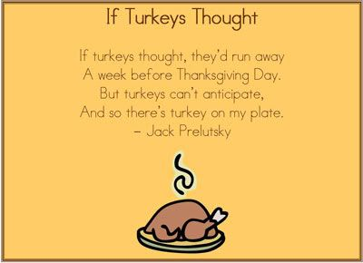 If Turkeys Thought by Jack Prelutsky | classroom Helpers ...