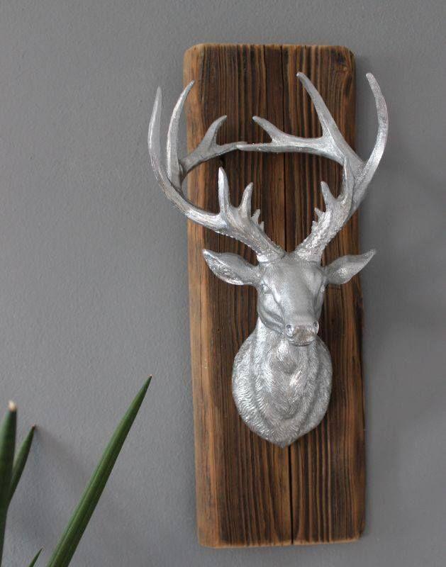 von naturlich dekorieren muthig www http natuerlich de weihnachtlich wanddekoration für draußen tierkopf wand plüsch
