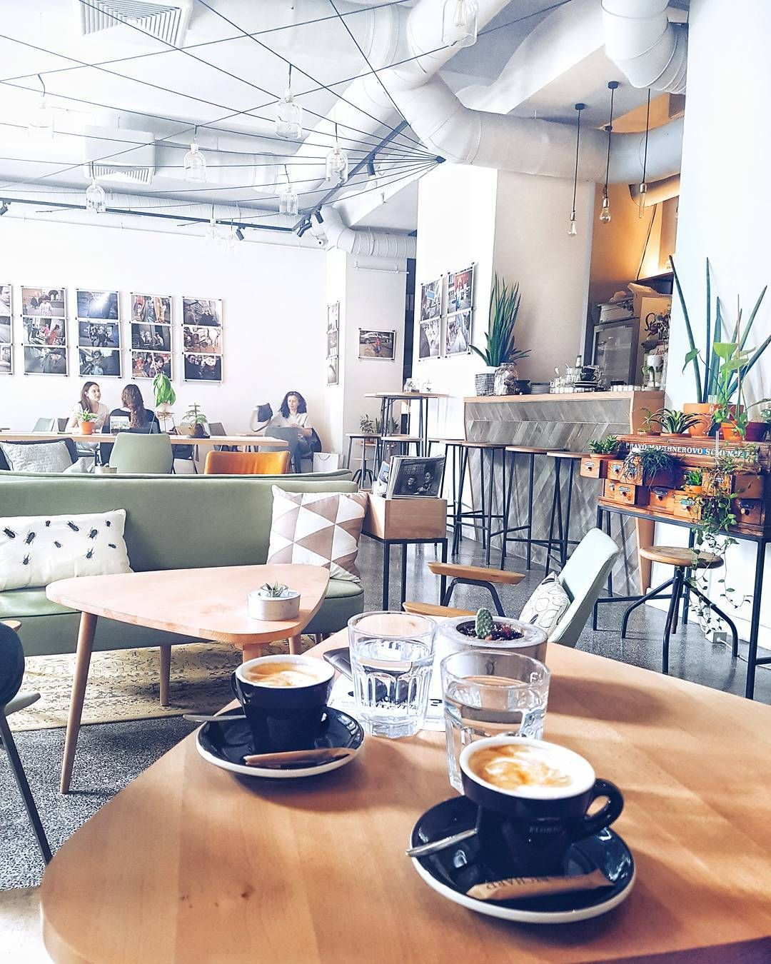 Iamgaura Instagram Bright Green Cafe Botaniar In Zagreb