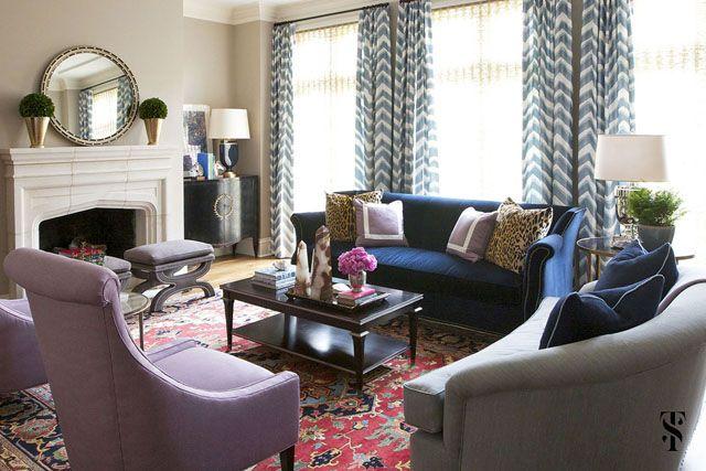 Dissecting The Details Summer Thornton La Dolce Vita Blue Living Room Living Room Inspiration Interior Design
