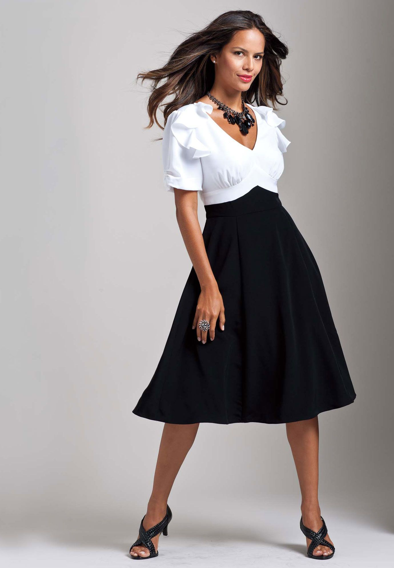 Plus Size Colorblock Empire Waist Dress | Plus Size Dresses ...