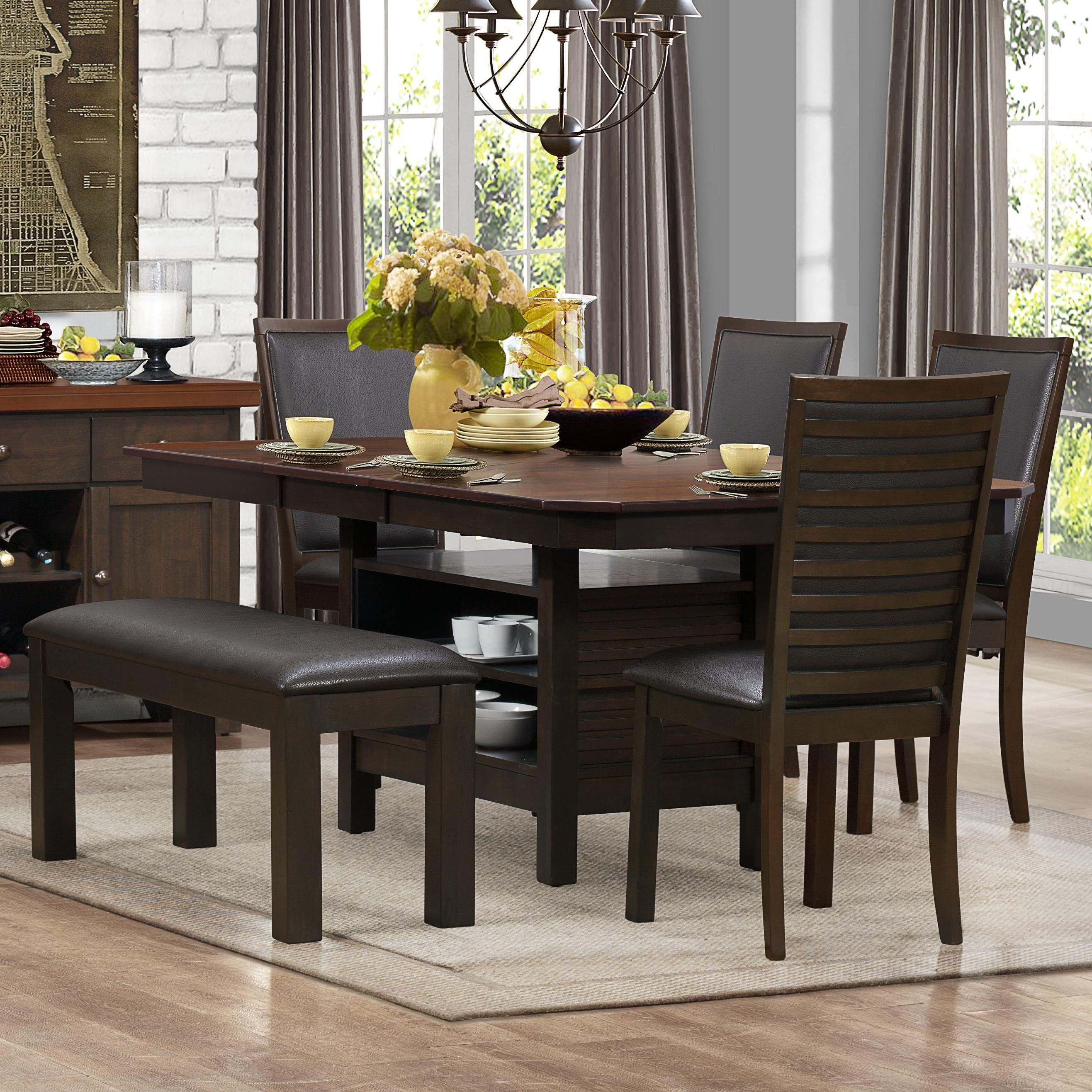 Corliss Dining Table Dining Table With Storage Pedestal Dining