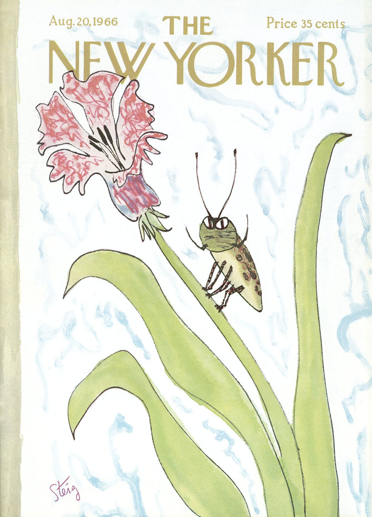 The New Yorker - Saturday, August 20, 1966 - Issue # 2166 - Vol. 42 - N° 26 - Cover by : William Steig