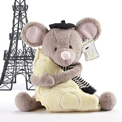Monsieur leSqueak and Blankie Fantastique Plush Mouse and Blanket Gift Set