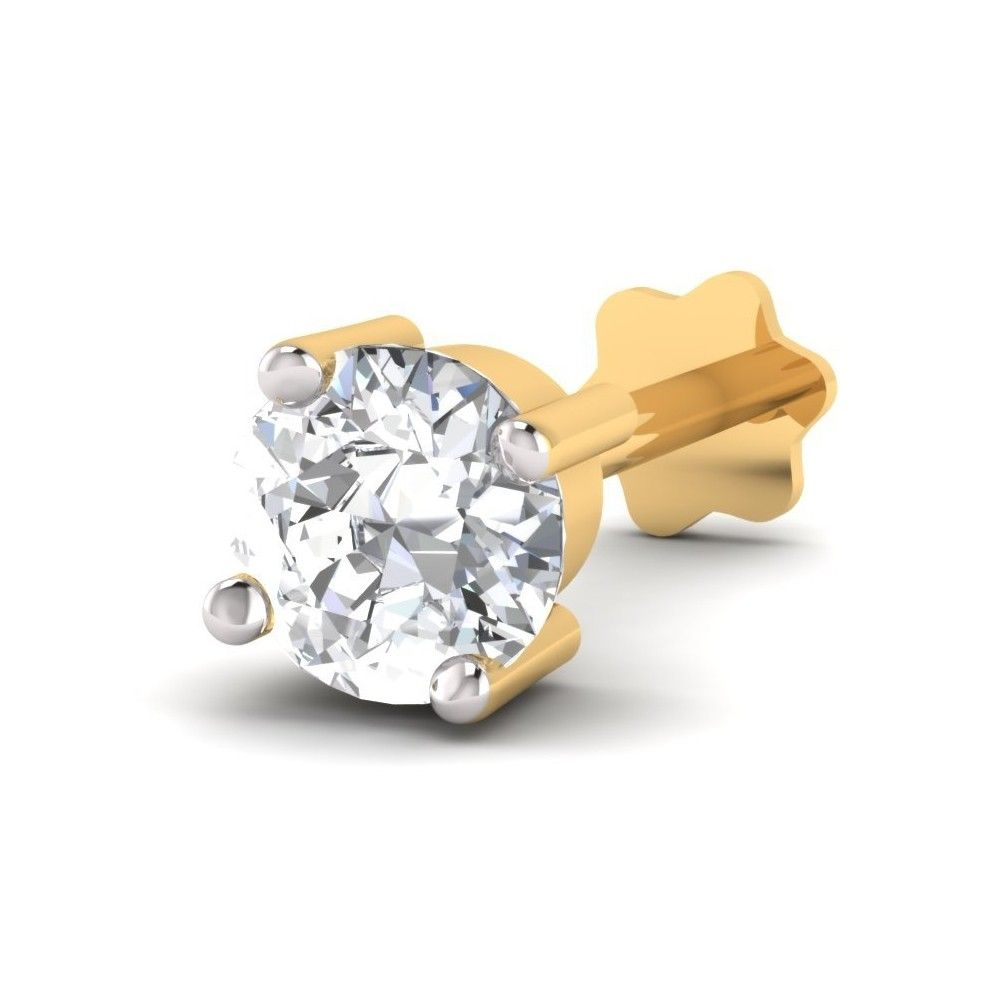 This one is a screw styled nose stud with one 0.09 carat diamond ...