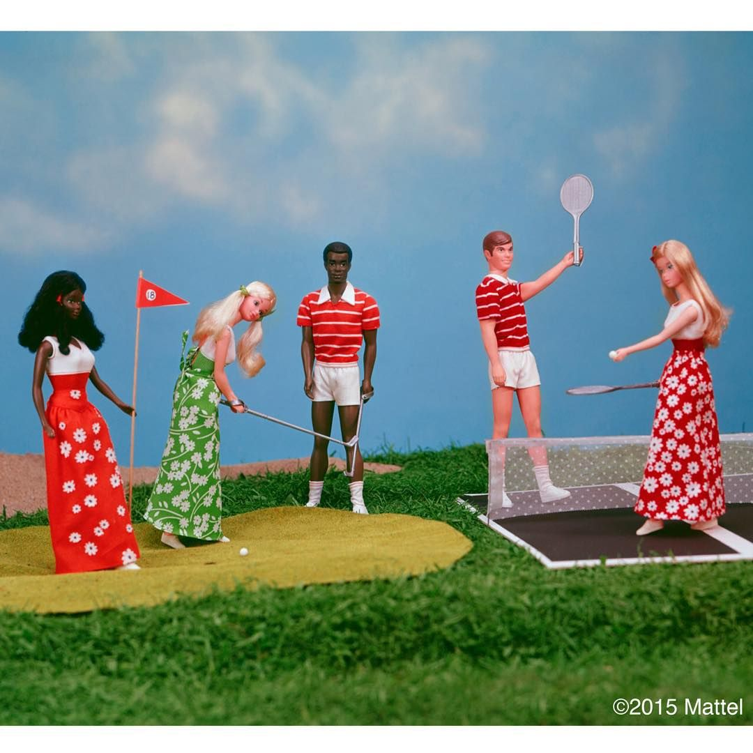 Excited that #Wimbledon has begun! #TBT to 1975, this photo is such an ace! #barbie #barbiestyle