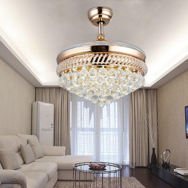Crystal Chandelier Fan With Lights Steel Ceiling Ikea Fans Folding