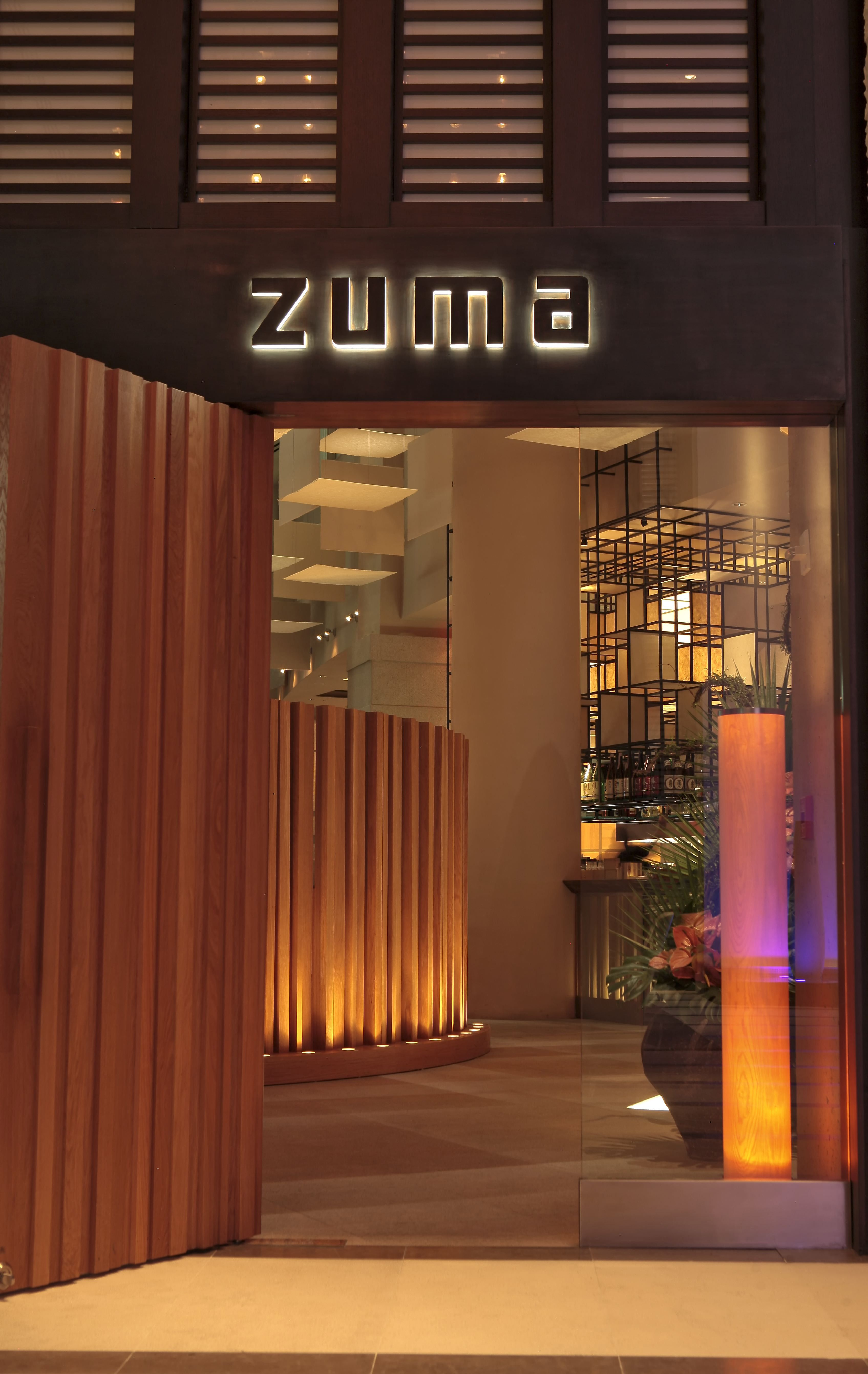 Zuma miami beautiful front entrance to match the