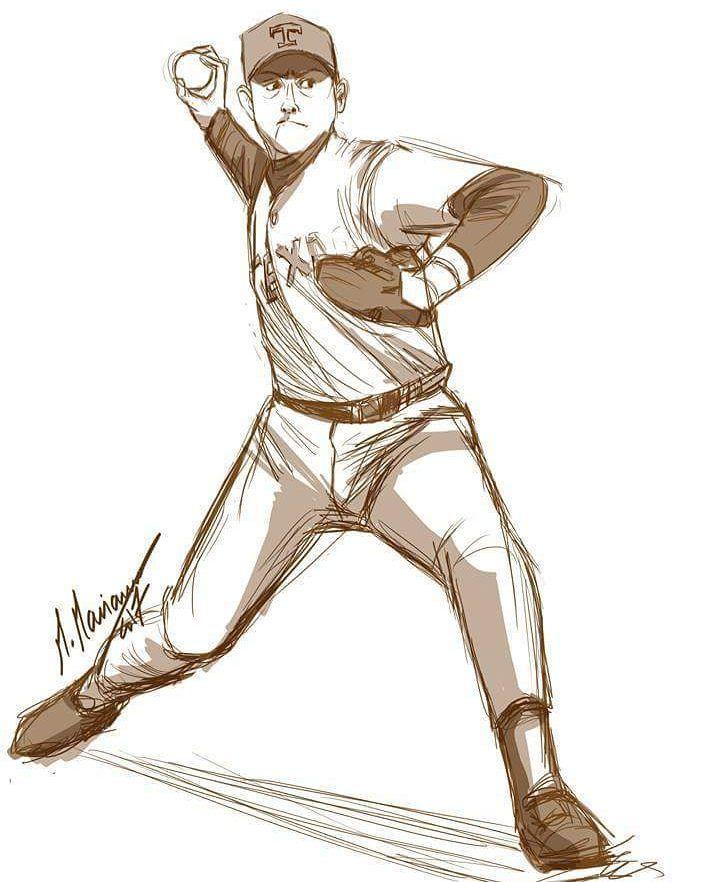 Today S Baseball Player Study Figure Baseball Sketching 90minchallenge Baseball Drawings Character Design Jobs Sports Drawings