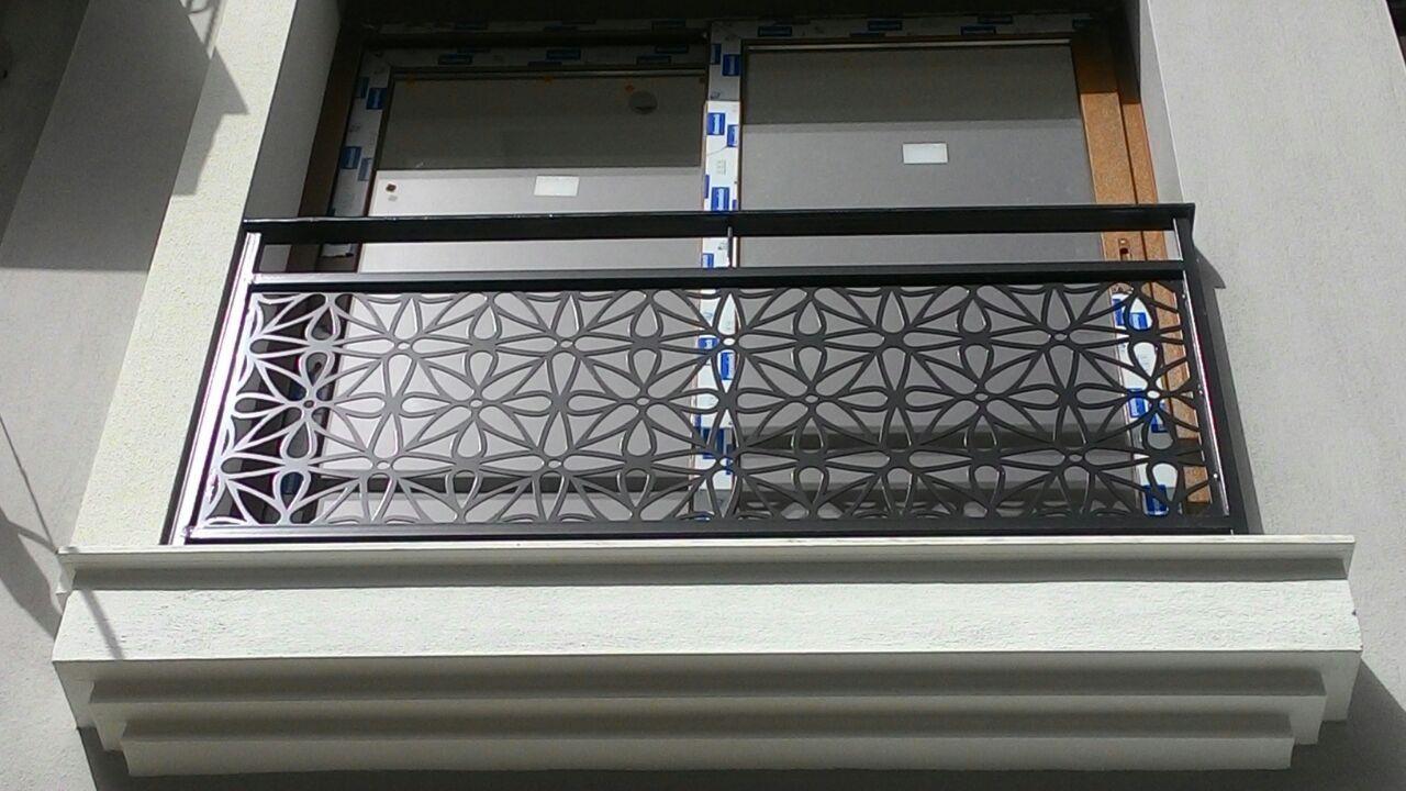 Steel Balcony Grill Design