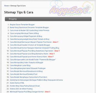 Cara Membuat Sitemap Blog Keren Dan Sederhana 100 Work Blogging Blogger Blog
