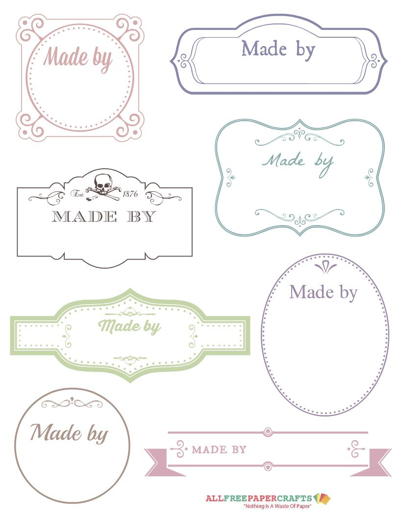 Free Printable Victorian Labels for Handmade Crafts | Etiquetas ...