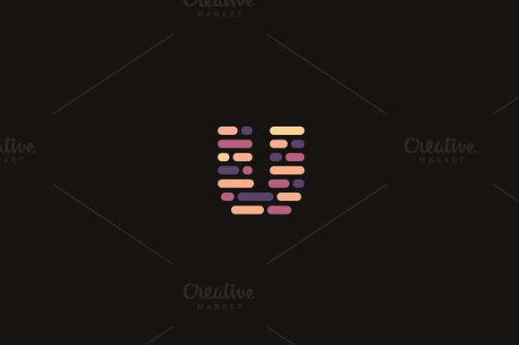 Dynamic code blocks letter u logo by bureau on creativemarket