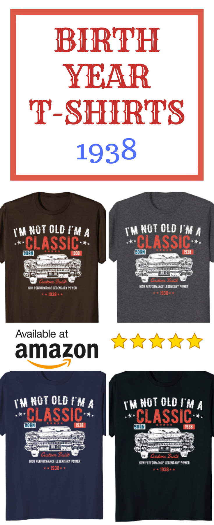 funny birth year t shirt for 80th birthday men and women great unique gift