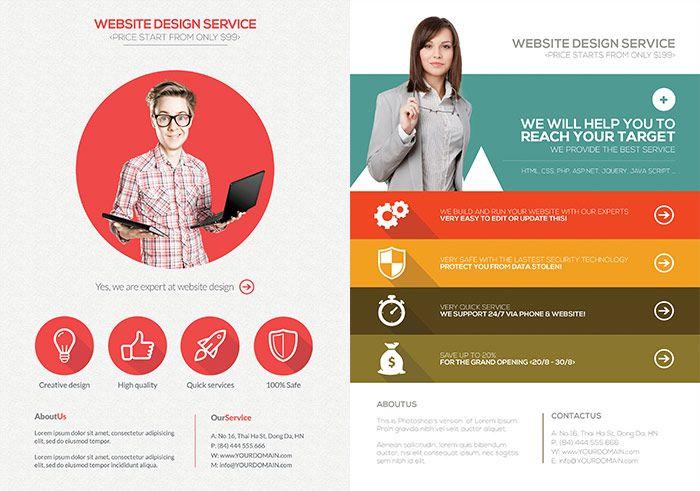 web design flyer design Buscar con Google Volantes – Web Flyer