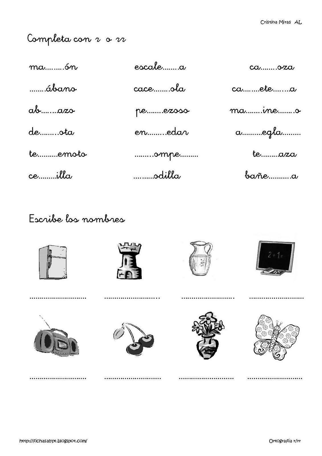 Lengua Unidad 8 Palabras Con R Y Rr