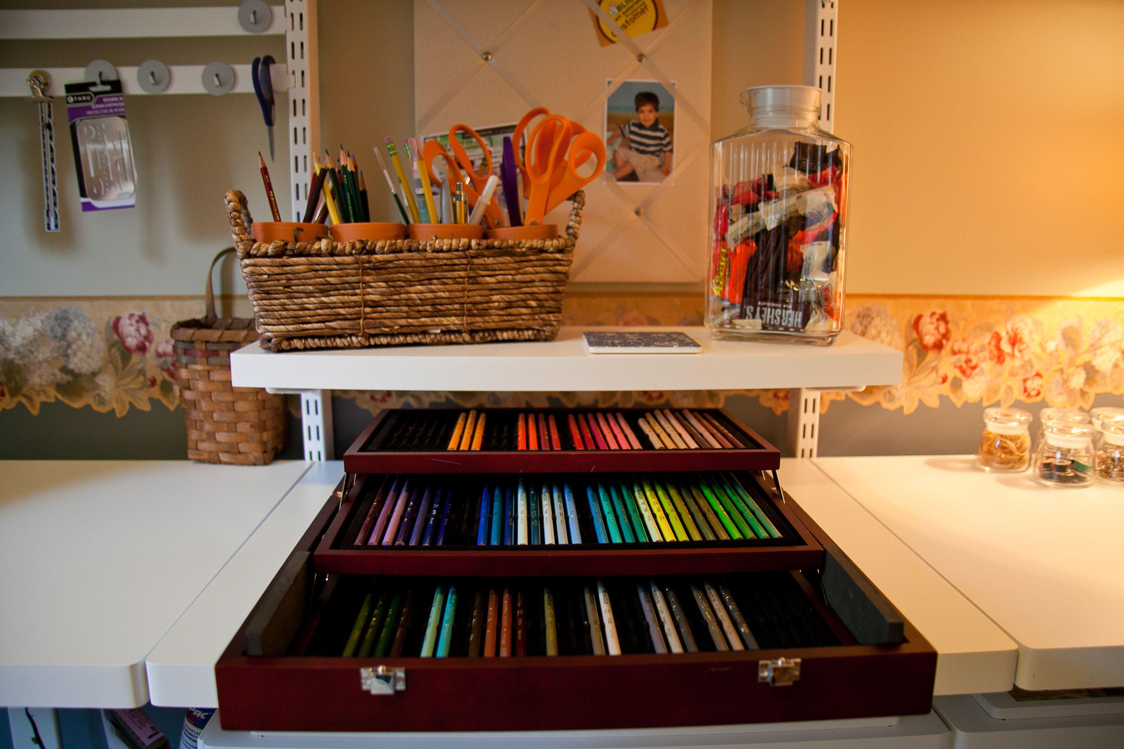 Colored pencil storage my arts crafts room