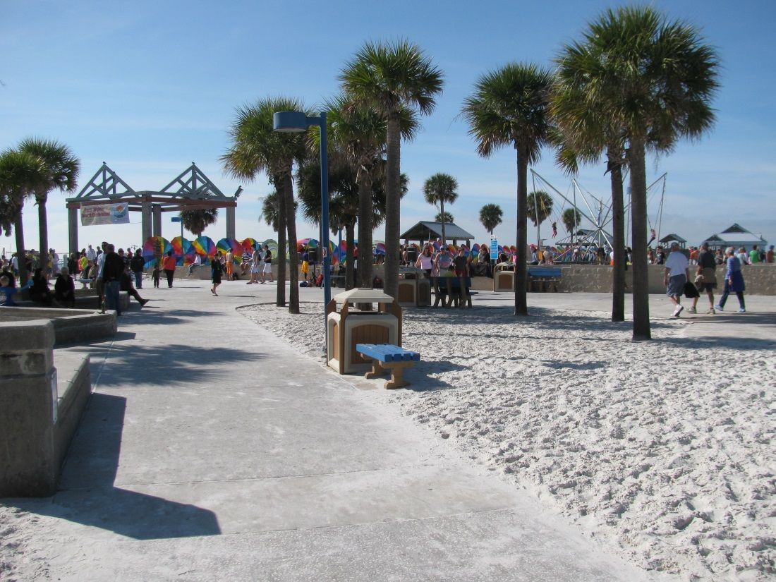 Walkway Leading To Pier 60 At Clearwater Beach Boardwalk Clearwaterbeach