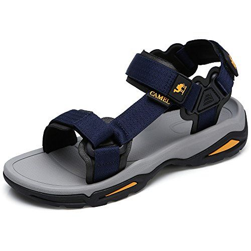 d04eb3fc72e2 CAMEL CROWN Men s Sandals Adjustable Non-Slip Open Toe Summer Shoes for Walking  Trekking Outdoor