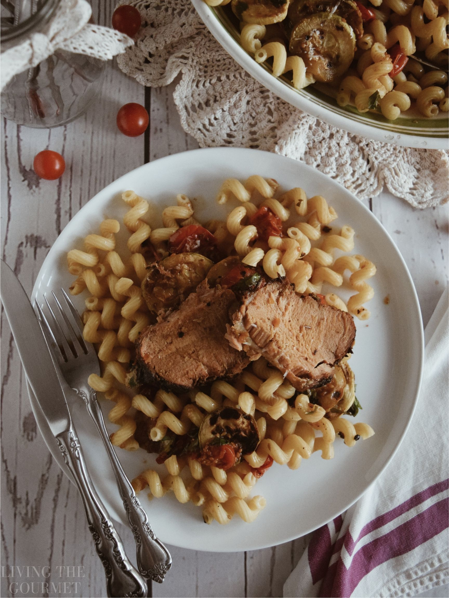 Herbed Pork Loin with Pasta | Recipe | Main Dish Recipes ...