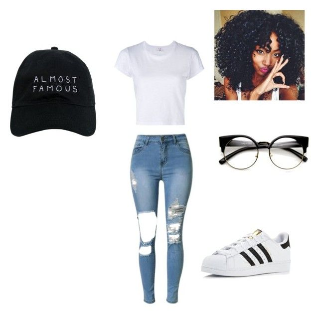 """""""Untitled #46"""" by jamellah-jackson on Polyvore featuring RE/DONE, adidas and Nasaseasons"""