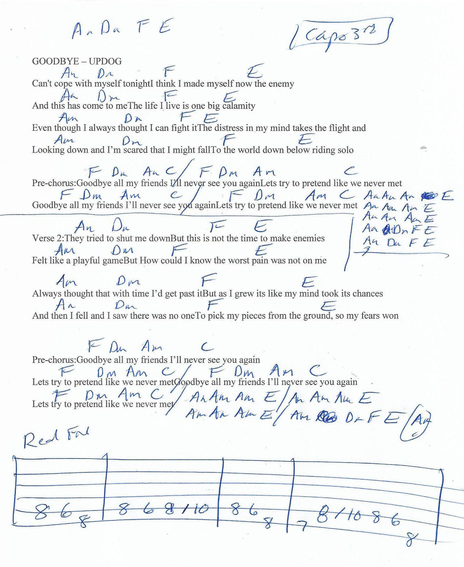 Chord Goodbye : chord, goodbye, Goodbye, (Updog), Guitar, Chord, Chart, Chart,, Chords,, Lessons