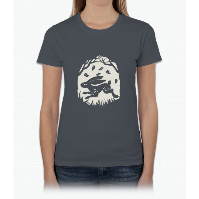 Leaping Hare in Autumn Womens T-Shirt