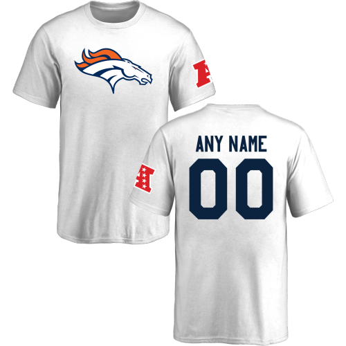 New Youth Denver Broncos Design Your Own Short Sleeve Custom NFL T