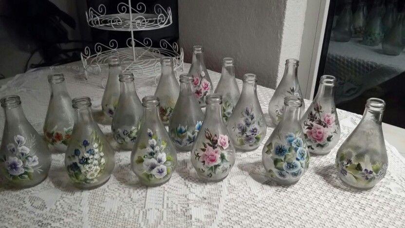 dekorativno slikanje na bocama
