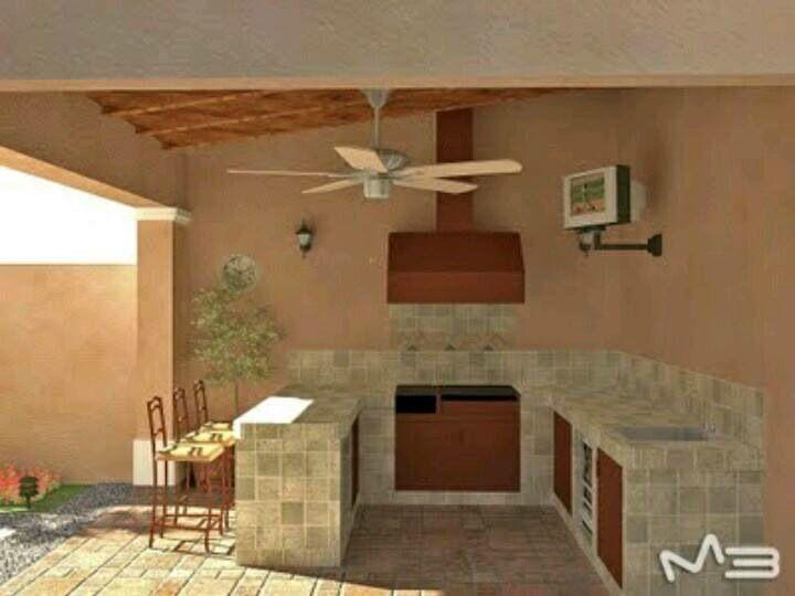 Rancho Casa Exterior Cocina Barbacoas Rusticas Asadores Para Jardin