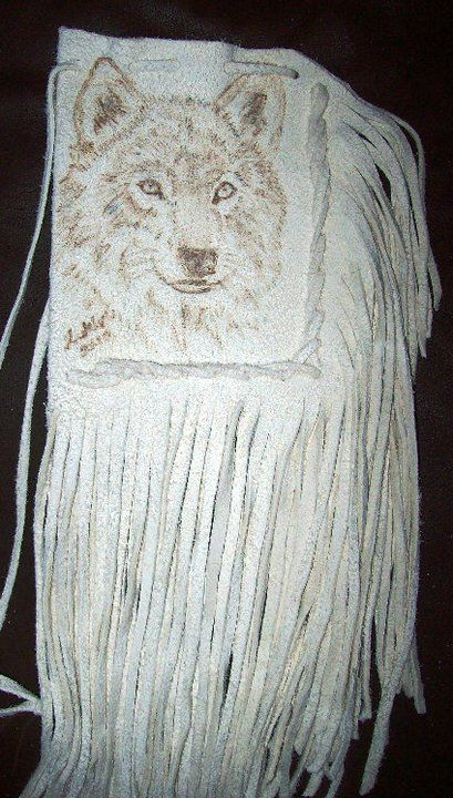 """custom portrait bag 65.00  pouch 5"""" x 4"""" length with fringe aprox 12"""""""